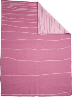 Shorelines rosa/rosa130x180 Jaquardvävd ullpläd