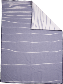 Shorelines grå/vit 130x180 Jaquardvävd ullpläd