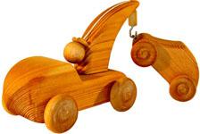 Kranbil med bil liten
