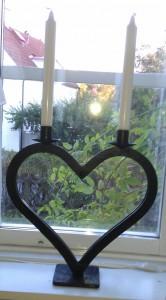 Hjärtljusstake liten - 2 ljus