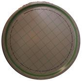 "Rabarberpaj"" bricka rund 38 cm grön/vit"