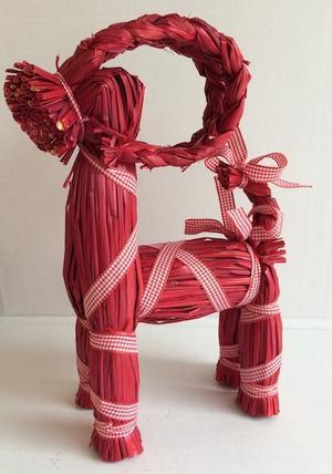 Halmbock Sixten röd 50 cm