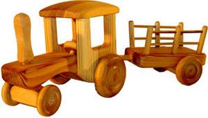 Stor Traktor med vagn