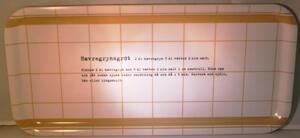 """""""Havregrynsgröt"""" bricka 32x15 cm gult/vit"""