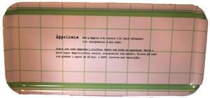 """Äppelkaka"" bricka 32x15 cm grön/vit"