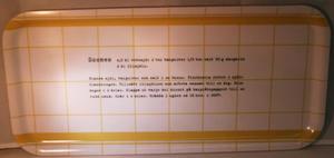 """Scones"" bricka 32x15 cm gul/vit"