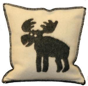 """Moose"" vit/svart 50x50 Kuddfodral"