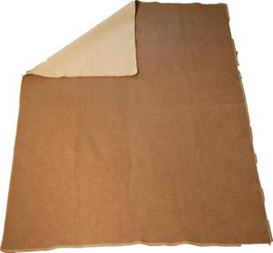 Haga Xtra Soft vit/camel 130x180 Jaquardvävd ullpläd