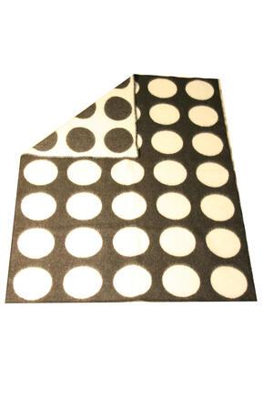 Dots vit/svart 130x180 jaquardvävd ullpläd