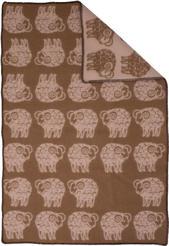 Sheep Brun/Beige 90x130 Jaquardvävd ullpläd