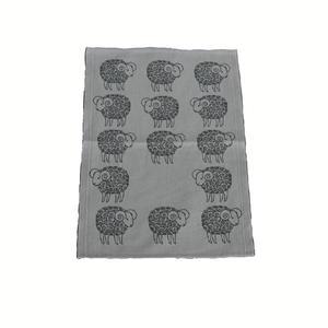 Sheep vit handduk svart får