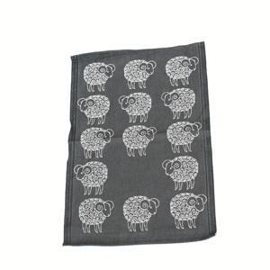 Sheep svart handduk svart får