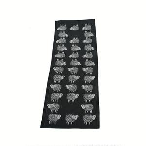 Sheep svart löpare svart får 35x120 cm